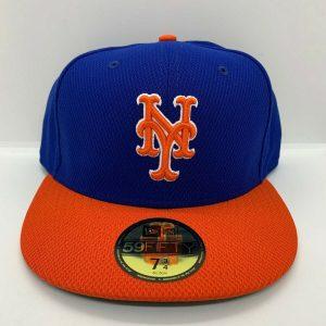 NEW ERA 5950 NY BLUE & ORANGE BASEBALL CAP FOR MEN